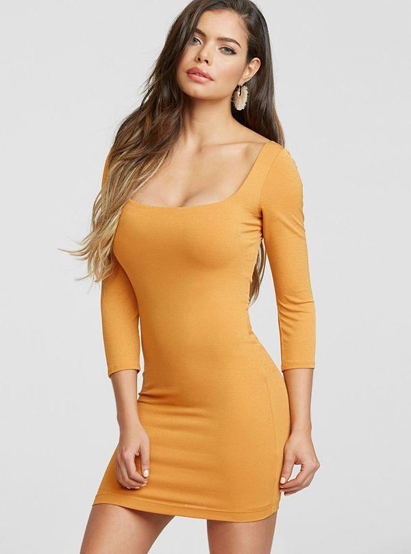 287e58fd6a279 Posie Square Neck Bodycon Dress