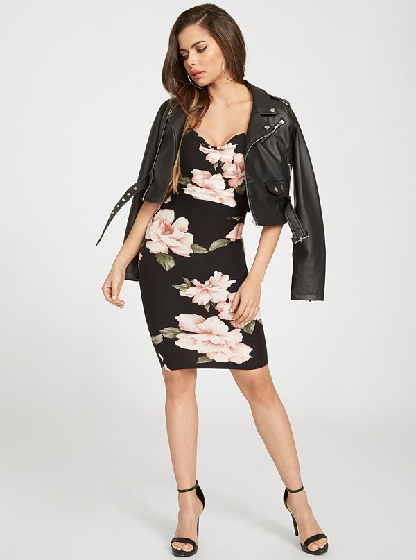 00357111371 Faith Floral-Print Midi Dress