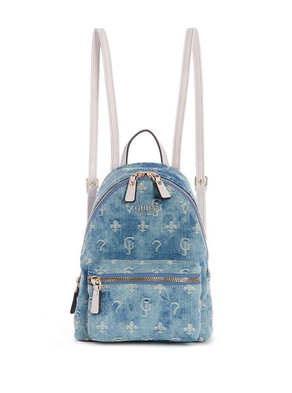 3a3682beac Leeza Logo-Print Denim Backpack