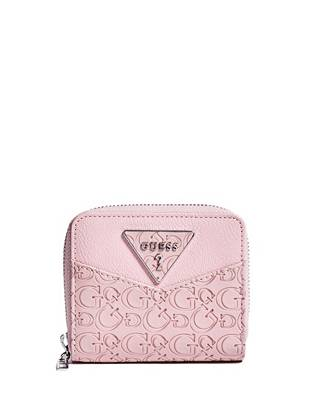 a506dc12897 sale Desire Small Zip-Around Wallet at Guess