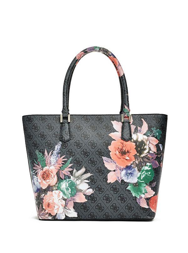 Linea Floral-Print Logo Tote | GUESS.com
