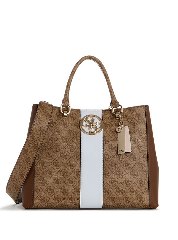 guess bluebelle logo print shoulder bag jad242ae