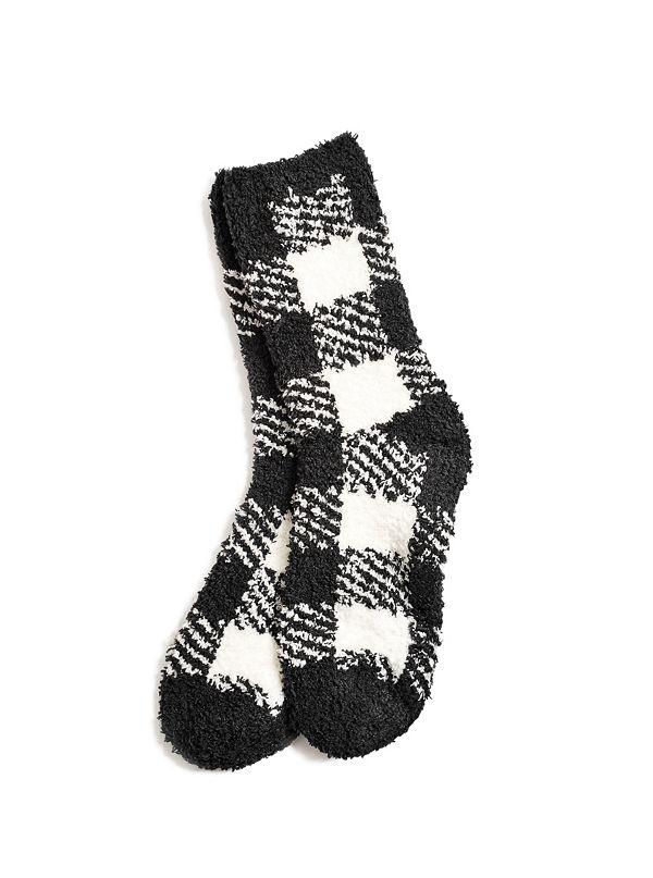 boys cozy plaid socks 4 16 guess factory canada
