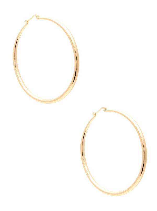 0083c2166 Gold-Tone Shine Hoop Earring