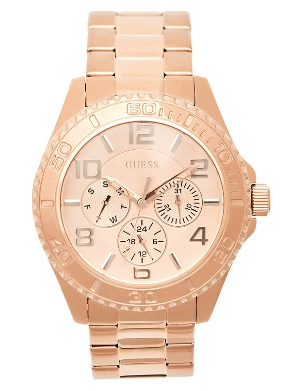 c57dbee2da9b2 Rose Gold-Tone Chronograph Watch