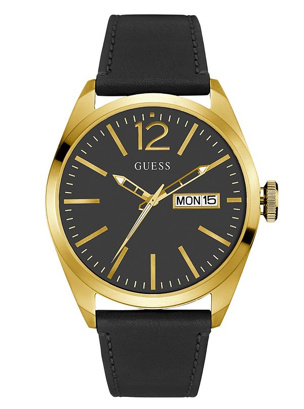 black and gold tone modern style guess