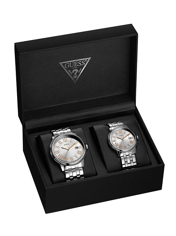 0c8cf68a9f5b Silver-Tone His   Hers Watch Set