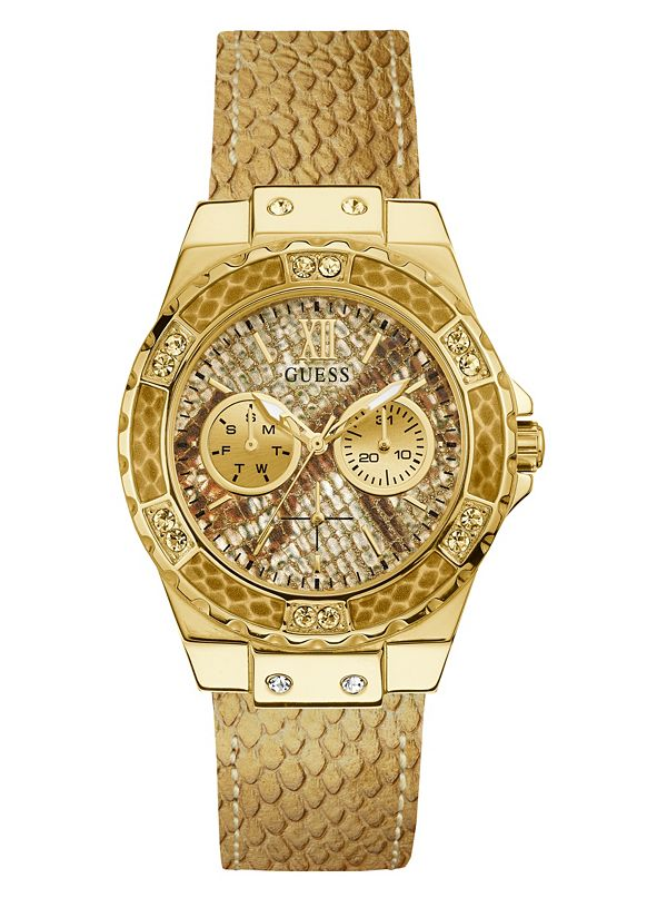 Gold Tone Quattro G Analog Watch by Guess