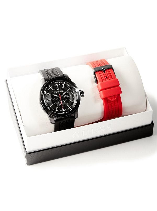 Two-Piece Black Silicone Watch Set. Out of Stock 4549b1ca9