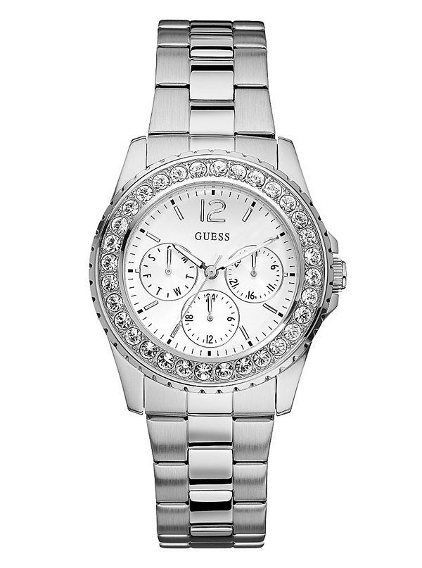 silver tone multifunction guess factory canada