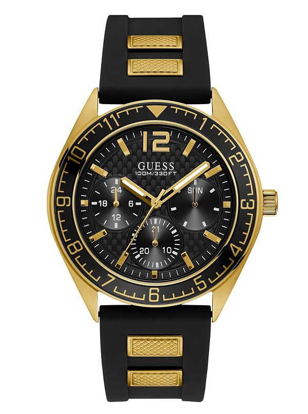 Black And Gold Tone Multifunction Watch Guess Ca