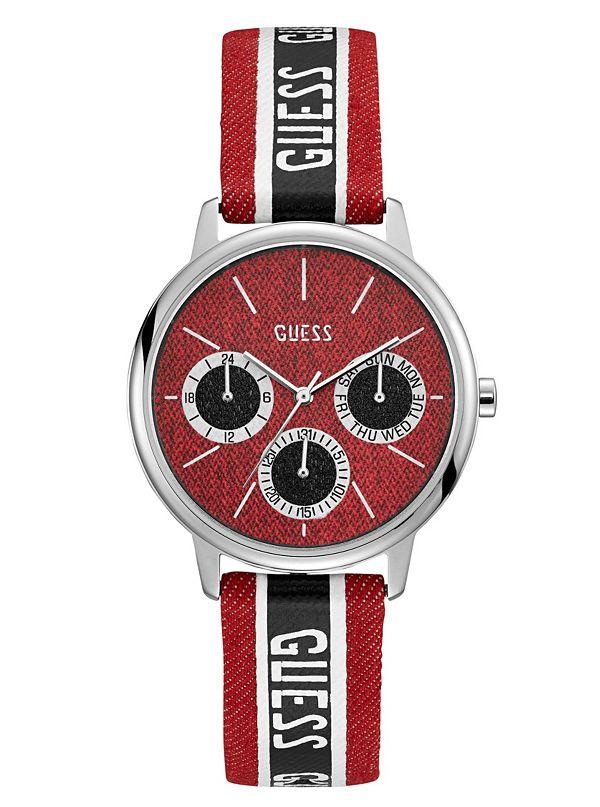 46a40b0149 Soldes · Montre multifonction à logo GUESS Originals