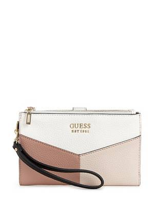 Colette Double Zip Logo Organizer by Guess