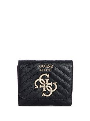 violet-small-tri-fold-wallet by guess