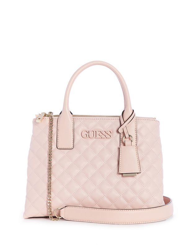 bb4c4932546506 Elliana Quilted Status Satchel | GUESS.com