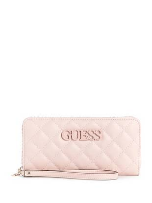 Elliana Quilted Large Zip Around Wallet by Guess