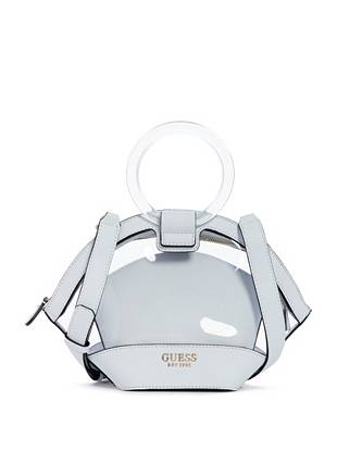 Clear View Lucite Satchel Set by Guess
