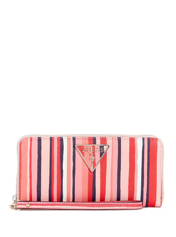 775d0e4067ee New Arrivals · Carys Large Zip-Around Striped Wallet