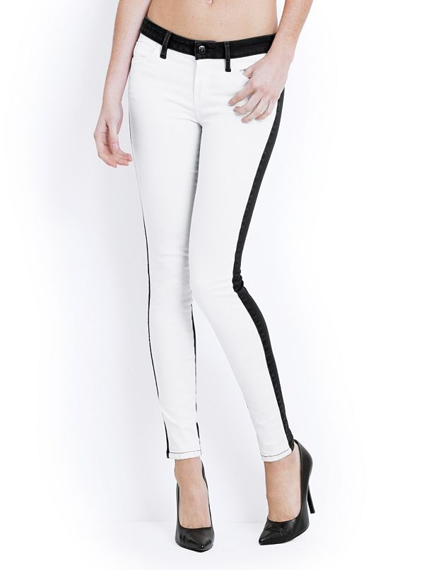 8c3b4e8526d040 Brittney Two-Tone Denim Leggings | GUESS.ca