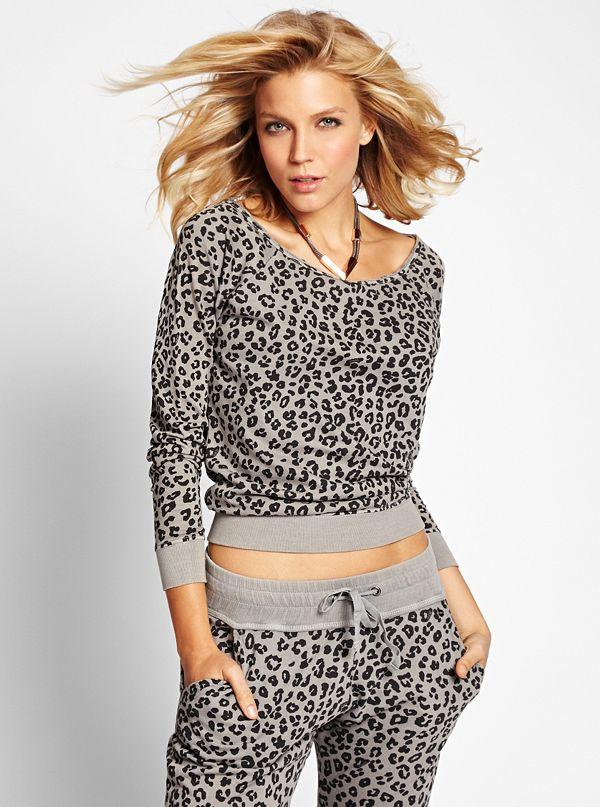 181cf391d1a7 Long-Sleeve Leopard-Print Pullover | GUESS.com