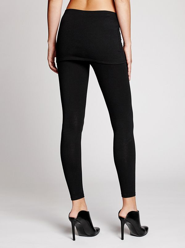Fold-Over Skirt Leggings | GUESS.com