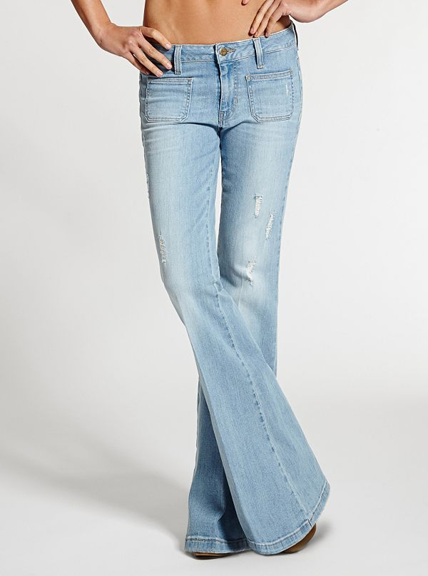 70s Mid-Rise Flare Jeans in Otis Wash