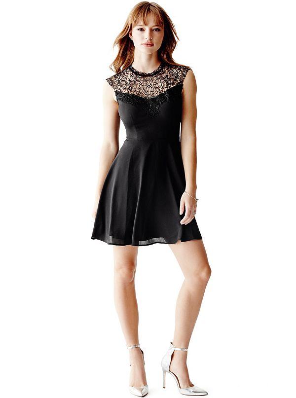 Cap Sleeve Lace Dress Guess