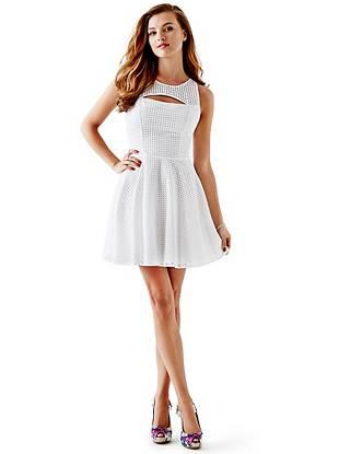 Sleeveless Eyelet Dress Guess Ca