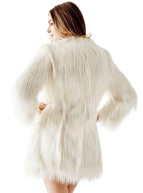 outlet store 1cefd 4a3b8 Glam Faux-Fur Coat   GUESS.com