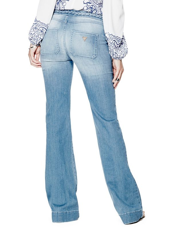 Braided Flare Jeans | GUESS.com