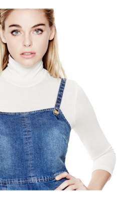 Denim bib dress