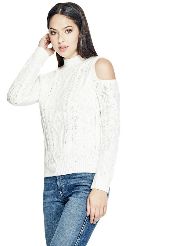 Cold shoulder sweater from Guess