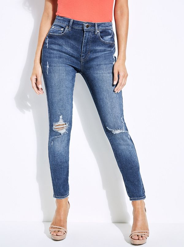 1981 Destroyed High-Rise Skinny Jeans