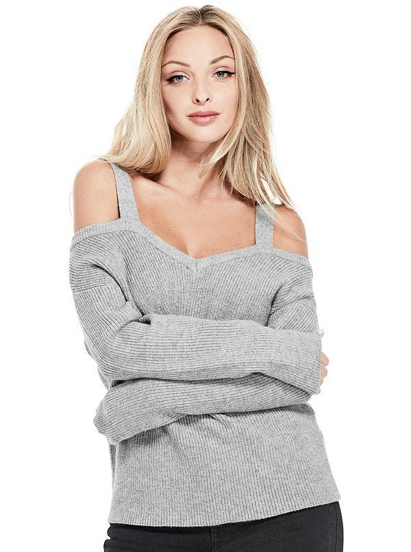 c36807fe47b845 Britta Cold-Shoulder Sweater
