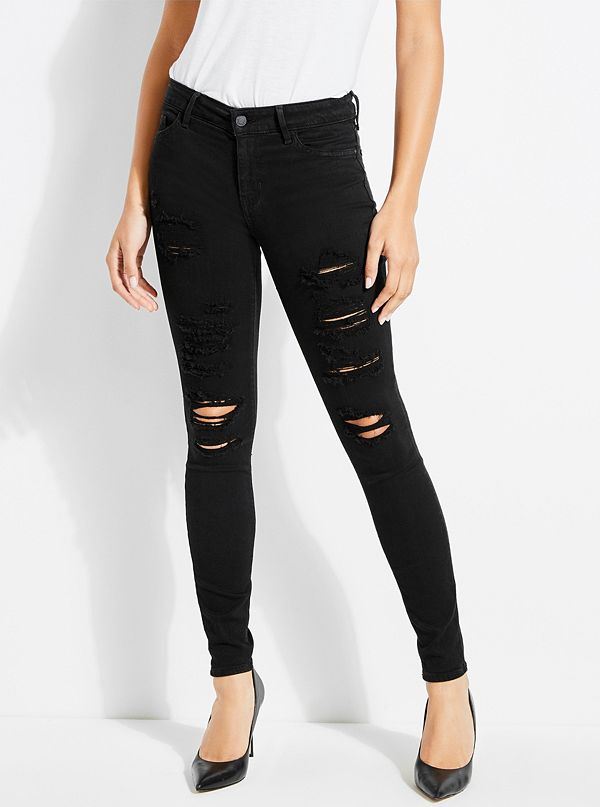 Sexy Curve Mid Rise Skinny Jeans by Guess