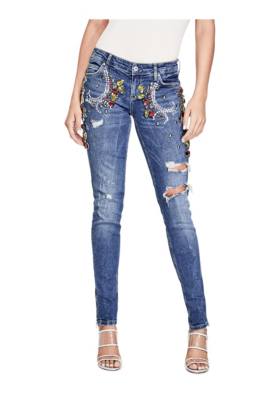 Women Jeans Guess LETITIA SKINNY Slim fit jeans bleuguess storeguess adsCheapest