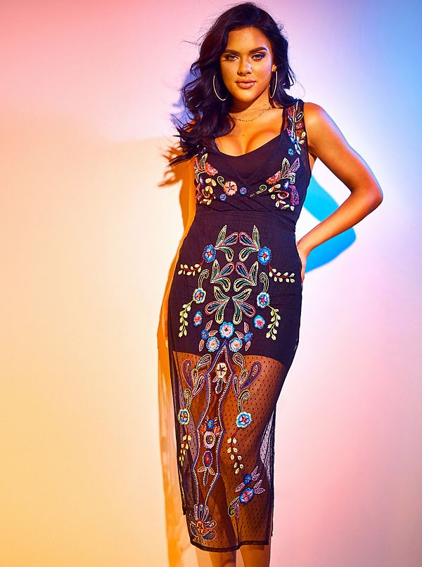 3f600dd2272 Cassia Embroidered Mesh Dress. Out of Stock