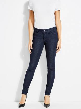 Bi Stretch Curve X Skinny Jeans With Crystals by Guess