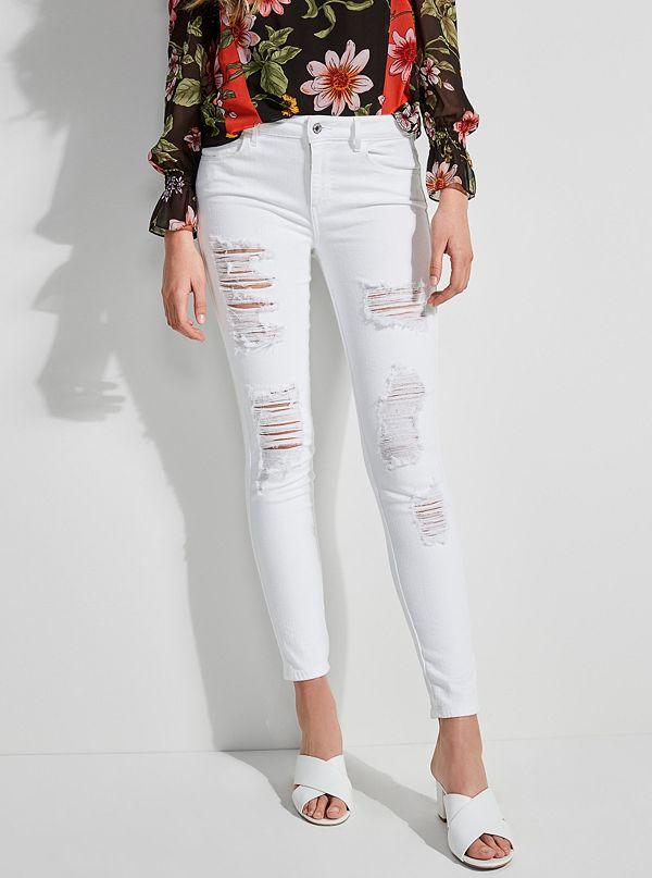 82c0b82a1e Sexy Curve Distressed Skinny Jeans