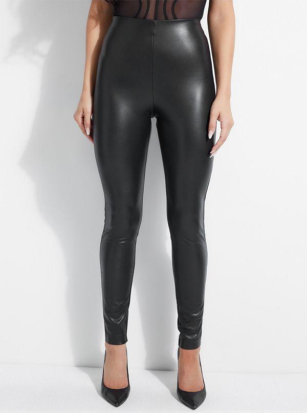 81acf77d75b367 Kaliann Faux-Leather Stretch Leggings