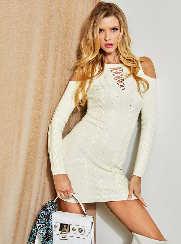d1c878a0377 Allison Laced Sweater Dress