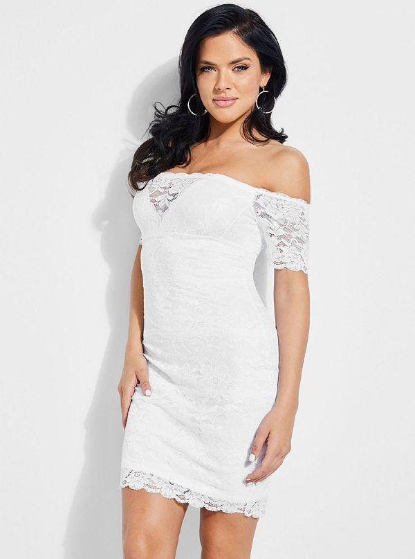 9216da43f23 Evalla Lace Off-The-Shoulder Dress