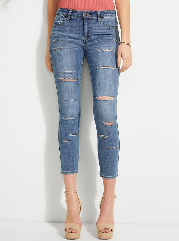 0b69cfe505 New Arrivals · Embellished Destroyed Sexy Curve Jeans