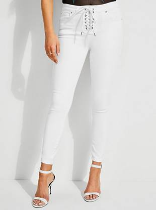 Sexy Curve Lace Up Jeans by Guess