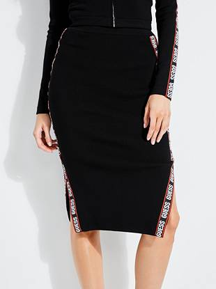 Side Logo Skirt by Guess
