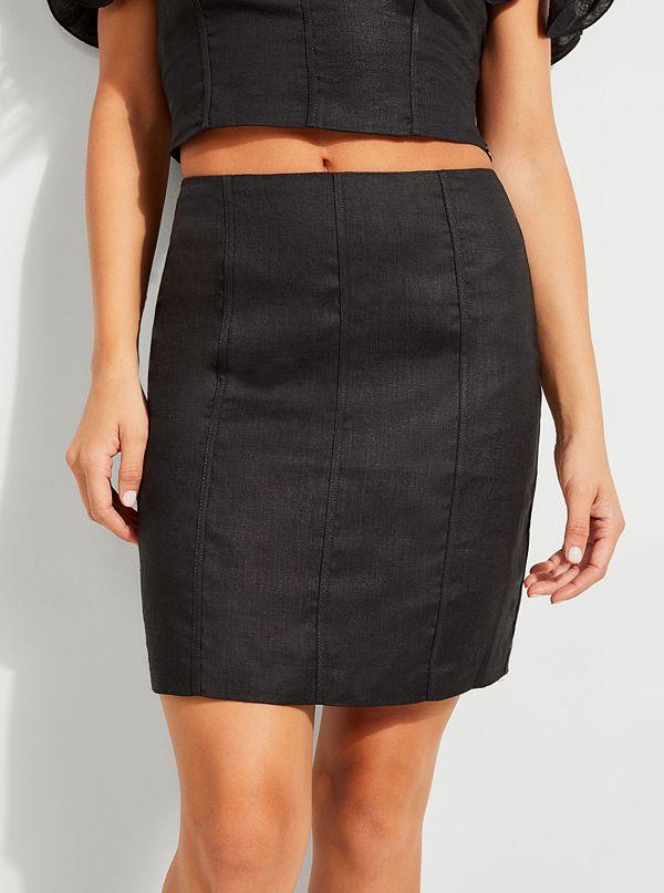 7c0e1d189c Makara Linen Mini Skirt