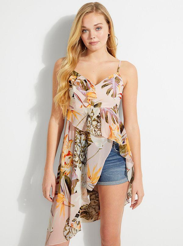 75a7e670479 Danie Ruffled Floral-Print Top