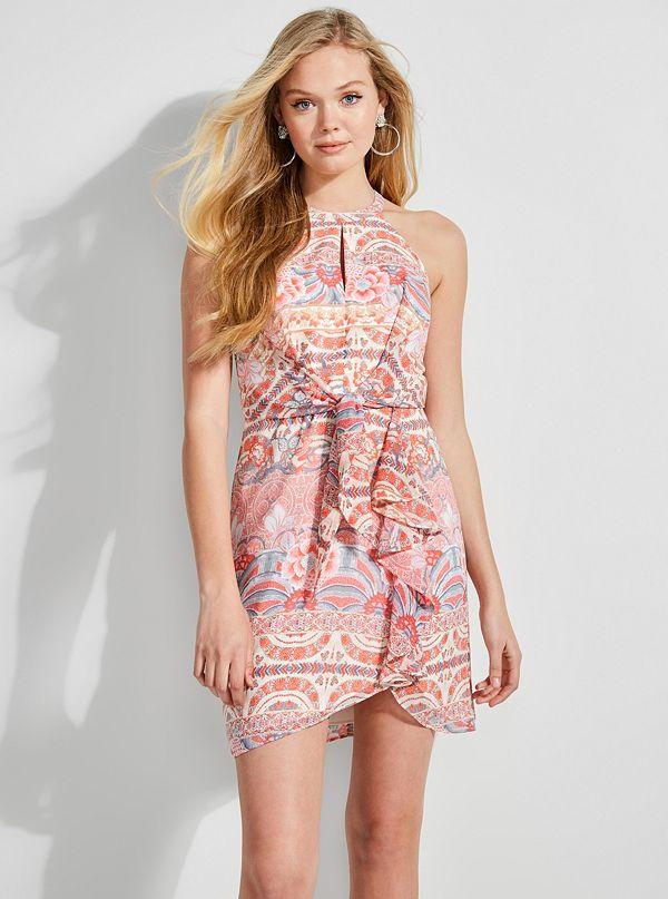 d2dedde622 Danie Open-Shoulder Ruffle Dress.  128.00. W91K0WR1V33