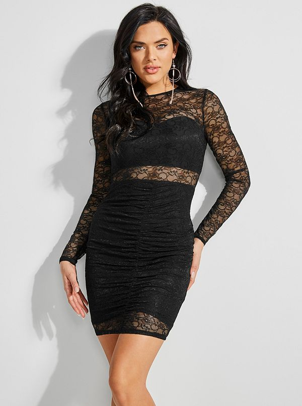0e62bd1d2d Sheba Ruched Lace Dress