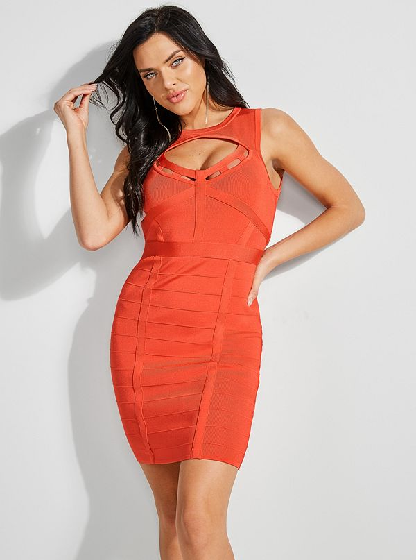 04e235d5c874 Mirage Cutout Bandage Dress